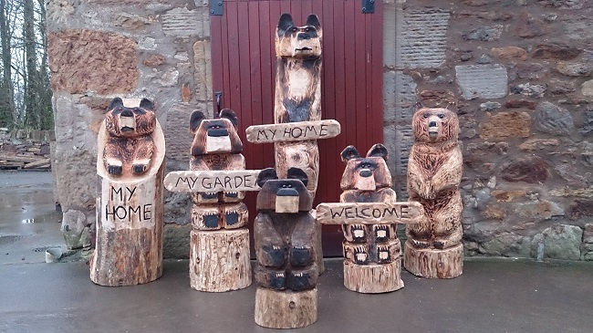 SD Provan Chainsaw Carved Bears