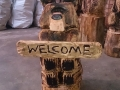 SD Provan Chainsaw Carved Bear Welcome Sign