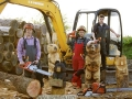 SD Provan Chainsaw Carved Bunny Large Bear