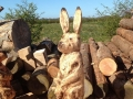 SD Provan Chainsaw Carved Bunny for Kellie Castle
