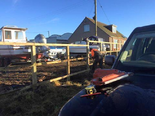 SD Provan Fencing at Old Pitkierie Garage 1
