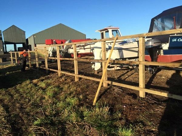 SD Provan Fencing at Old Pitkierie Garage 2