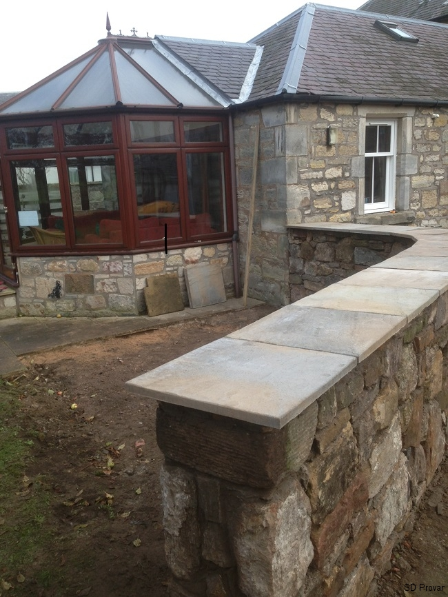 SD Provan - Constructing Curved Stone Wall & Patio 2