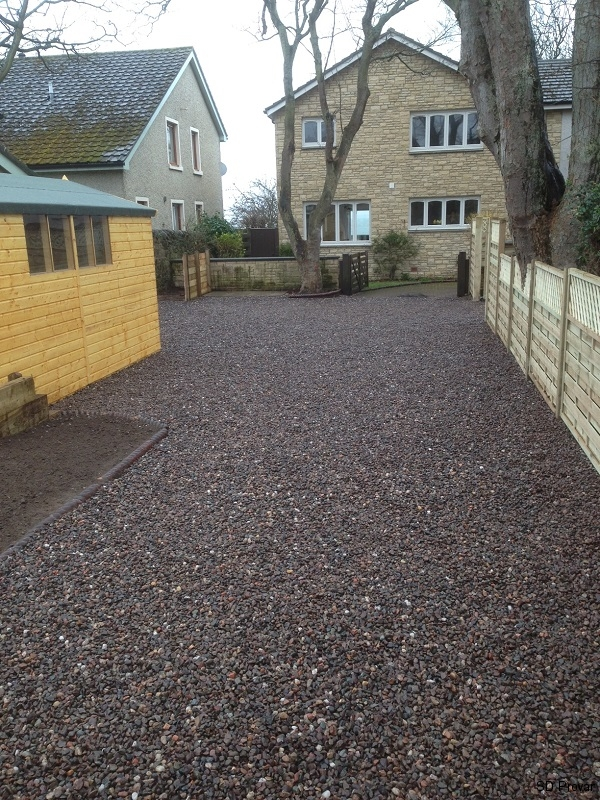 SD Provan - New fence, drive, shed and compost area