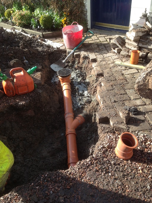 SD Provan - Drainage works at Peat Inn before (2)